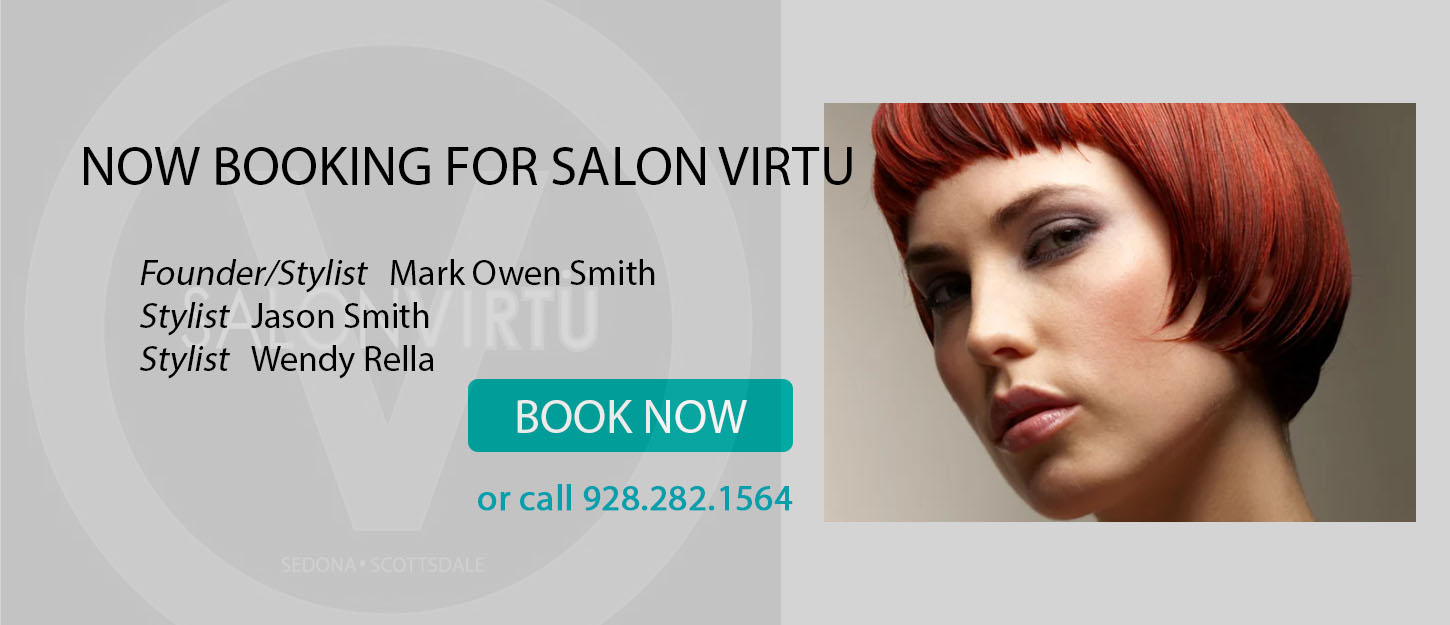 Hair salon in Sedona now booking online.